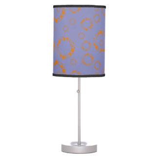 el círculo azul anaranjado femenino ajusta arte lámpara de mesilla de noche