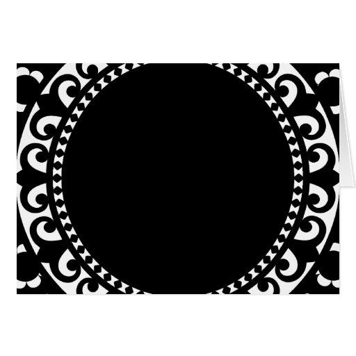 el CÍRCULO BLANCO NEGRO 3332__doily-shape-1 FORMA  Felicitaciones