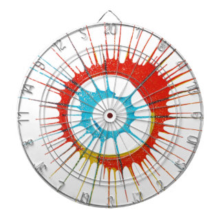 El círculo de colores del diseño pared forma la tablero de dardos