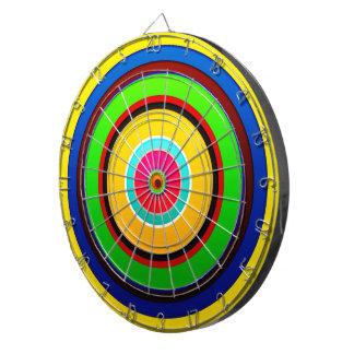 El círculo de colores pared forma la ronda oscu tablero dardos