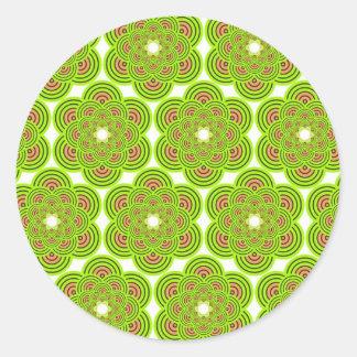 El círculo de colores pared forma la ronda oscu etiqueta redonda