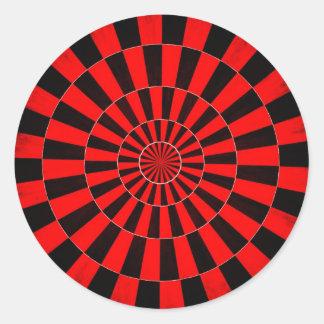 El círculo de colores pared forma la ronda oscu etiqueta