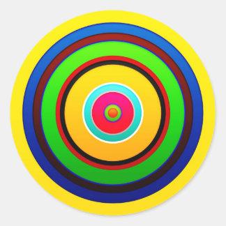 El círculo de colores pared forma la ronda oscu pegatinas