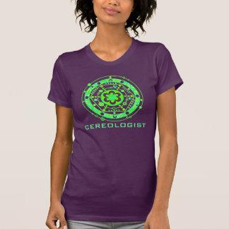 El círculo de la cosecha en primavera colorea la camiseta