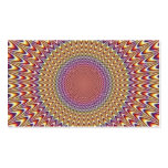 El círculo de la ilusión óptica amplía el arco iri tarjetas de negocios