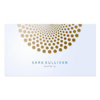 El círculo de la tarjeta de visita del notario pun