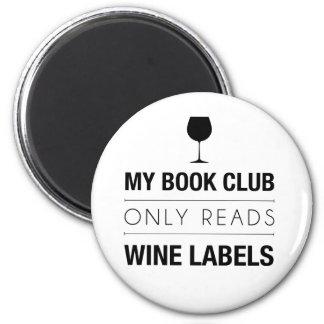 El círculo de lectores lee el imán de las etiqueta