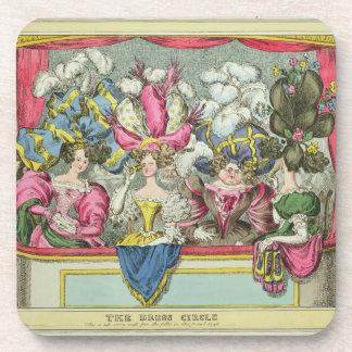 El círculo de vestido, publicado por Thomas McLean Posavasos De Bebida