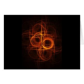 el círculo del fuego irradia la cruz felicitaciones
