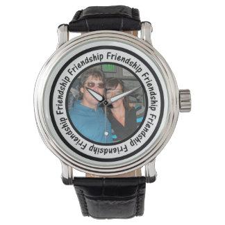 El círculo del marco de la amistad añade su foto relojes de pulsera