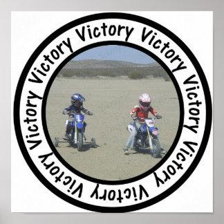 El círculo del marco de la victoria añade su foto póster