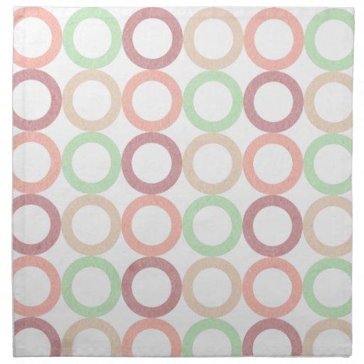 El círculo en colores pastel verde púrpura rosado  servilleta de papel