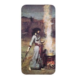 El círculo mágico de John William Waterhouse Funda Acolchada Para iPhone