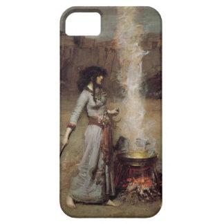 El círculo mágico [John William Waterhouse] iPhone 5 Carcasas