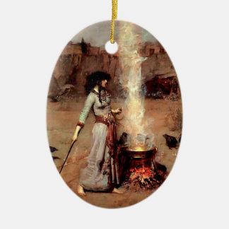 El círculo mágico - ornamento adorno ovalado de cerámica