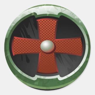 El círculo pegatina redonda
