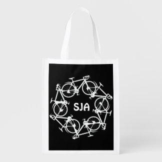 El círculo personalizado de ciclos diseña el tote bolsas para la compra