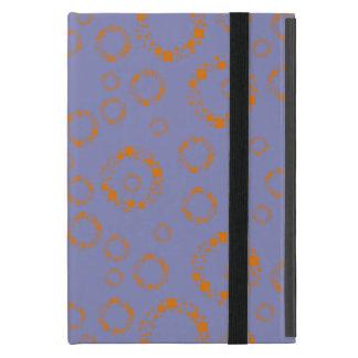 el círculo púrpura anaranjado femenino ajusta el iPad mini protectores