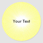 El círculo Sun del personalizar irradia al pegatin