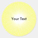 El círculo Sun del personalizar irradia al Pegatina Redonda