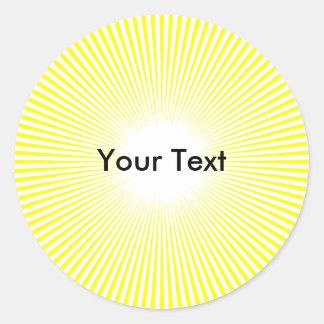 El círculo Sun del personalizar irradia al Etiquetas Redondas