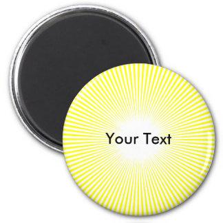 El círculo Sun del personalizar irradia el imán am