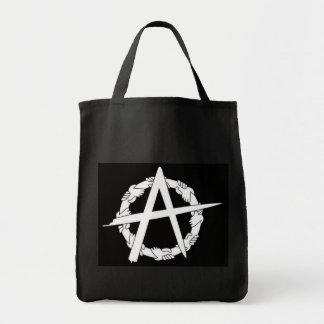 el círculo-uno da el bolso de ultramarinos negro bolsas