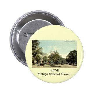 El círculo, vintage 1913 del búfalo NY Pin Redondo De 2 Pulgadas