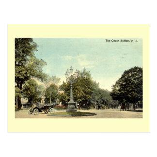 El círculo, vintage 1913 del búfalo NY Postales