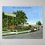 El círculo, vintage de Hollywood, la Florida Posters