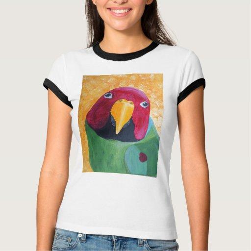 El ciruelo dirigió la pintura del Parakeet Remera