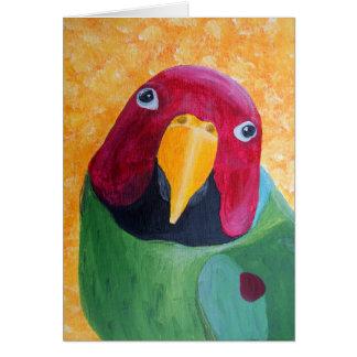 El ciruelo dirigió la pintura del Parakeet Tarjeta De Felicitación