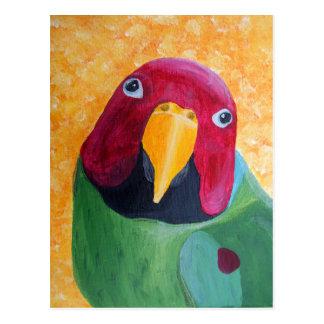 El ciruelo dirigió la pintura del Parakeet Postales