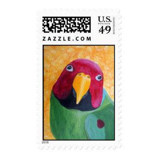 El ciruelo dirigió sellos de la pintura del Parake