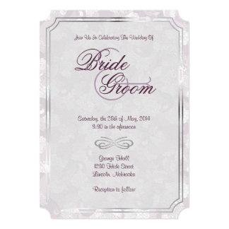 """El ciruelo helado, el gris y el boda clásico de invitación 5"""" x 7"""""""
