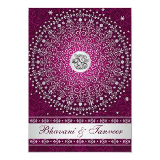 El ciruelo hindú de Ganesh, el casarse de plata de Invitacion Personalizada