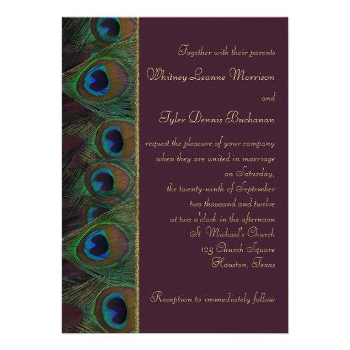 El ciruelo, pavo real del oro empluma la invitació comunicado personal