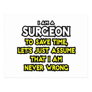 El cirujano… asume que nunca soy incorrecto tarjeta postal