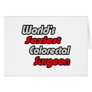 El cirujano colorrectal más atractivo del mundo tarjeta de felicitación