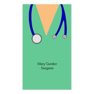 El cirujano divertido friega y el doctor Medic del Plantilla De Tarjeta De Visita