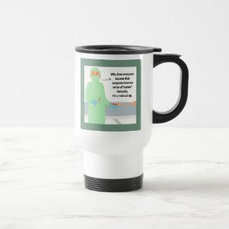 El cirujano es un corte real para arriba tazas de café