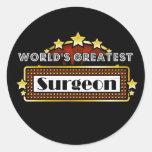 El cirujano más grande del mundo pegatina redonda