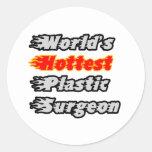 El cirujano plástico más caliente del mundo pegatinas redondas