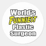 El cirujano plástico más divertido del mundo pegatina