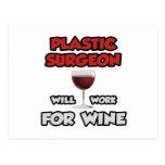El cirujano plástico… trabajará para el vino tarjetas postales