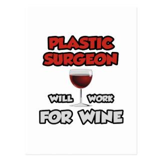 El cirujano plástico… trabajará para el vino tarjeta postal