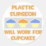 El cirujano plástico… trabajará para las etiquetas redondas