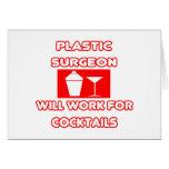 El cirujano plástico… trabajará para los cócteles felicitaciones