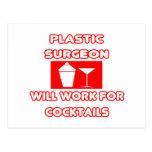 El cirujano plástico… trabajará para los cócteles tarjetas postales