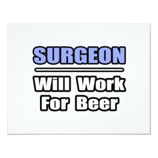 El cirujano… trabajará para la cerveza invitación personalizada